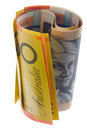 Australian currency rolled Stock Photos