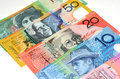 Australian Dollar bank notes Royalty Free Stock Photo