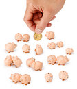 Australian Dollar Hand Money Piggy Royalty Free Stock Photo