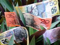 Australian dollars Royalty Free Stock Photo