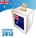 Australian election day background with urn Royalty Free Stock Photography