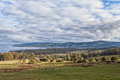 Australian farm landscape scene Royalty Free Stock Photo