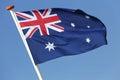 Australian flag Royalty Free Stock Photo