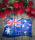 Australian Flag Flowers Background
