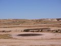 An australian golf course in the outback barren courses of coober pedy australia Royalty Free Stock Image