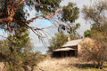 Australian heritage cottage remains of ruined in south australia Stock Photography