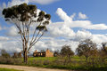 Australian heritage remains of ruined farmhouse in south australia c Royalty Free Stock Photo