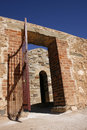 Australian heritage secure powder magazine entrance c copper mine burra south australia Royalty Free Stock Photos
