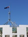 The australian house of parliamant half mast flag on parliament building in canberra in australia photo taken on december Royalty Free Stock Photography