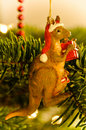 Australian Kangaroo Christmas Tree Royalty Free Stock Photo