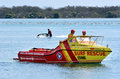 Australian lifeguards in gold coast queensland australia sep are world renown for their high levels of skill Royalty Free Stock Images