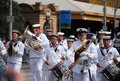 Australian Navy Officers at Australia Day Parade Royalty Free Stock Image