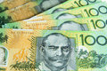 Australian notes a group of with a shallow depth of field foreground in focus Royalty Free Stock Photography