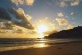 Australian ocean sunset Royalty Free Stock Photo