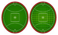 Australian rules football fields Royalty Free Stock Photo