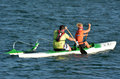 Australian sea kayaking in gold coast queensland australia oct man and woman it s a very popular sport the waterway of the Stock Image