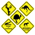 Australian set of signs Royalty Free Stock Photo