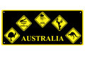 Australian signs number plate with of wildlife Stock Photography