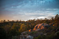 Australian Sunset Over Redhill Royalty Free Stock Photo