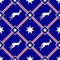 Australian themed seamless pattern