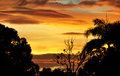 An Australian Tropical Sunset after a Storm Blew Royalty Free Stock Images