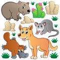 Australian wildlife fauna set 1 Royalty Free Stock Photo