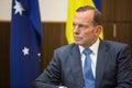 Australijski pierwszorzędny minister tony abbott Obrazy Stock