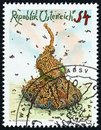 AUSTRIA - CIRCA 1986: A stamp printed in Austria shows Decomposition Walter Schmogner, circa 1986. Royalty Free Stock Photo