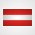 Austria flag on a gray background. Vector illustration