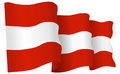 Austria Flag Waving Vector Illustration