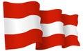 Austria Flag Waving Vector Illustration