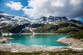 Austria kaprun panorama the reservoir in the high alp mountains in Royalty Free Stock Photo
