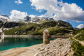 Austria kaprun panorama the reservoir in the high alp mountains in Stock Photography