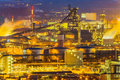 Austria linz industrial area upper night view of the Stock Photography