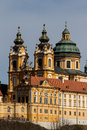 Austria lower austria melk abbey wachau exterior of the pen Royalty Free Stock Photo
