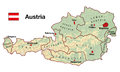 Austria Map Royalty Free Stock Photo