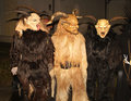 Austria perchten people in incubus masks named Stock Images
