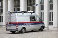 Austria police vienna september austrian federal van in vienna in two major forces in gendarmerie and polizei Stock Photography