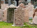 Austria vienna jewish cemetery grave stones on the oldest in Stock Photography