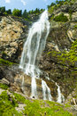 Austria waterfall in the forest of carinthia Stock Photos