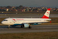 Austrian airlines airbus a oe lbi Royalty Free Stock Photography