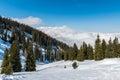 Austrian alps mayrhofen ski resort panoramic view Stock Images