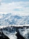 Austrian Alps mountains scenic Royalty Free Stock Photo