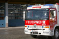 Austrian fire engine truck of the kufstein brigade with copy space to the left Stock Photography