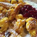 Austrian kaiserschmarrn fine served with cranberries Stock Image