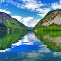 Austrian lakes beautiful landscapes of in hallstatt Stock Image