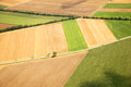 Austrian landscape seen from a plane rural on summer Royalty Free Stock Photography
