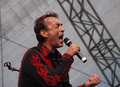 Austrian musician Hubert von Goisern in Linz Stock Photos