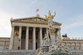 Austrian Parliament with Pallas Athene Royalty Free Stock Images