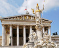 Austrian Parliament in Vienna Stock Photo